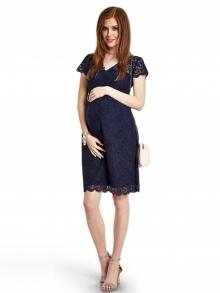 """Кружевное коктейльное платье для беременных """"Midnight navy"""""""