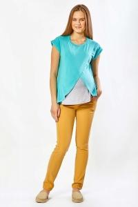 Блузка для беременных ментолового цвета