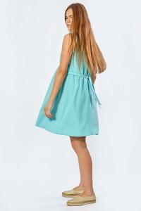 Летнее платье для беременных голубого цвета