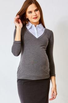 Блуза для беременных - имитация кофточки 2 в 1